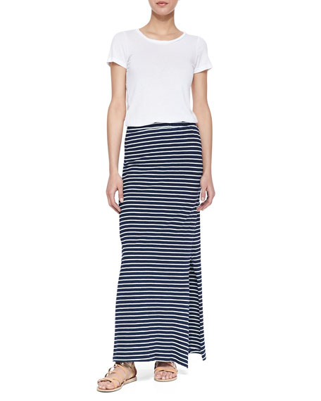 Splendid Venice Side-Slit Striped Maxi Skirt