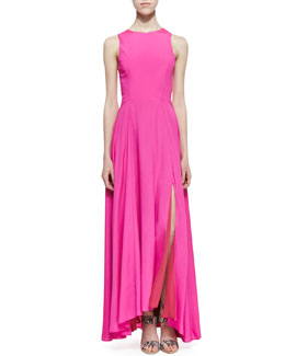 Naven Sleeveless Siren Maxi Dress, Pop Pink