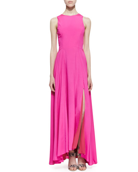 Sleeveless Siren Maxi Dress, Pop Pink