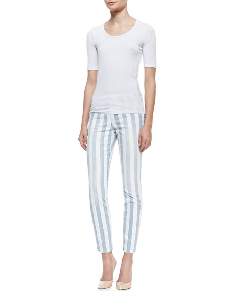 Baby Blues Skinny-Leg Ankle Jeans