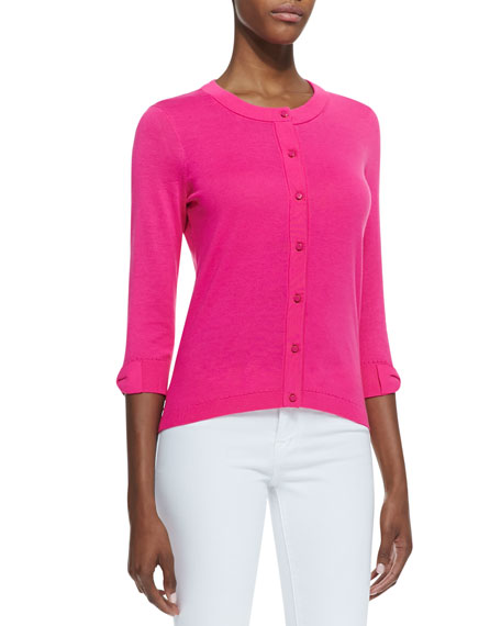somerset button-down cardigan, bougainvillea