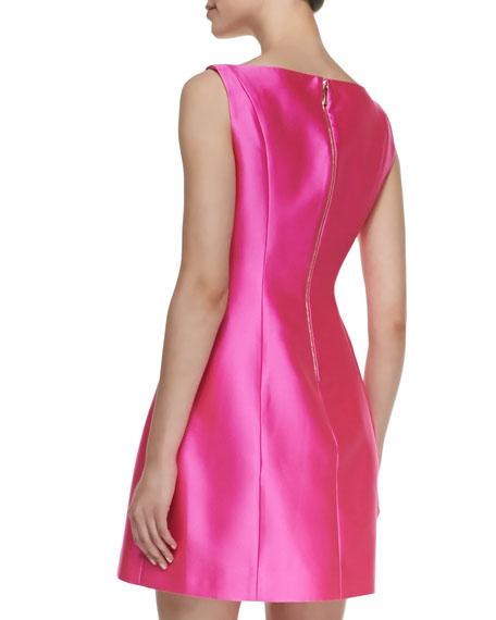 sleeveless structured mini dress