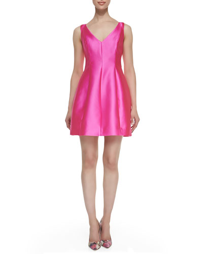 kate spade new york sleeveless structured mini dress