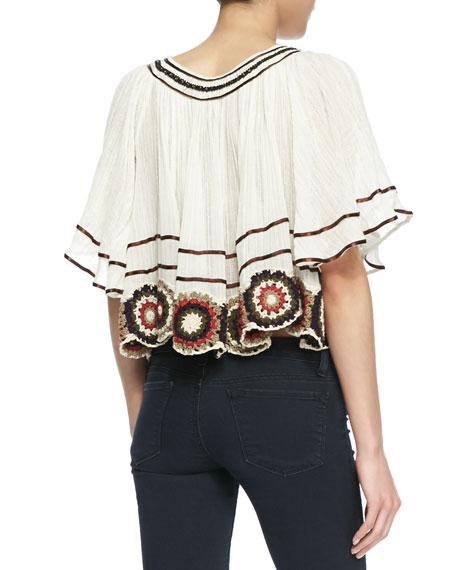 The Way She Moves Embellished Trim Top