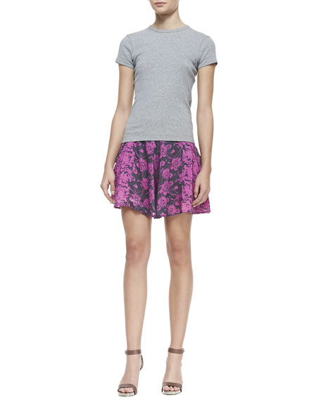 Floral Printed High-Rise Culotte Shorts