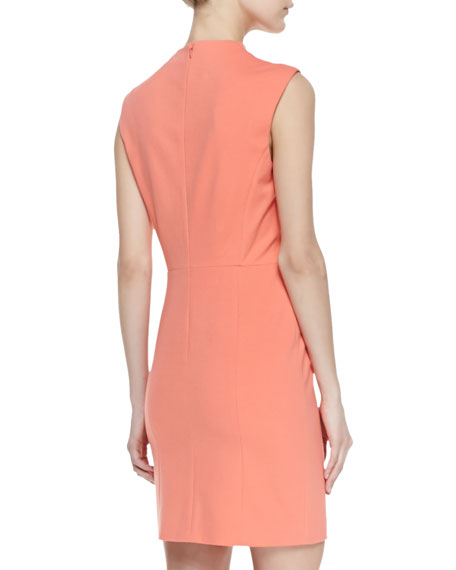 Summer Ponte Sheath Dress, Coral