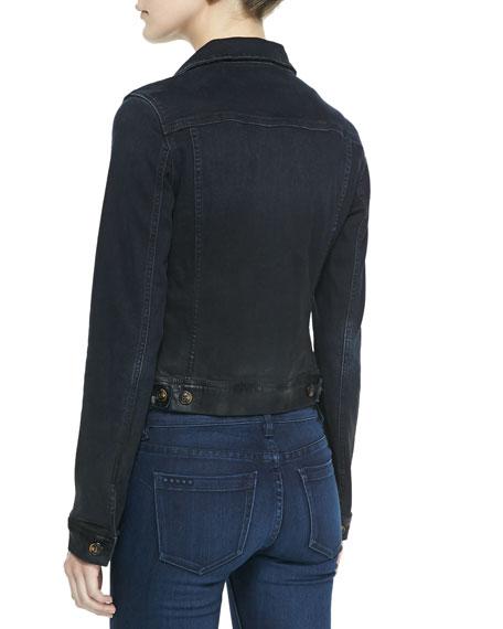 Coated Denim Jacket, Blue