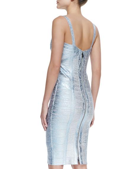Judith Foiled Metallic Bandage Dress