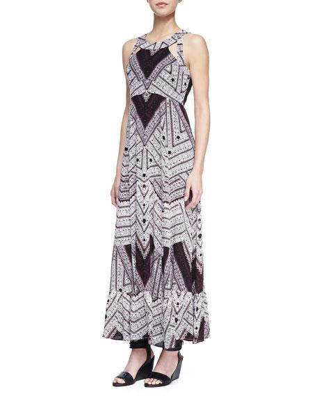 Andrina's Cutout-Back Maxi Dress, Purple