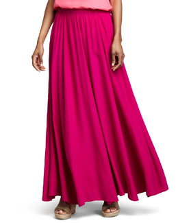 Neiman Marcus Pull-On Maxi Skirt