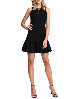 Cynthia Steffe Holland Sleeveless Cutout Dress