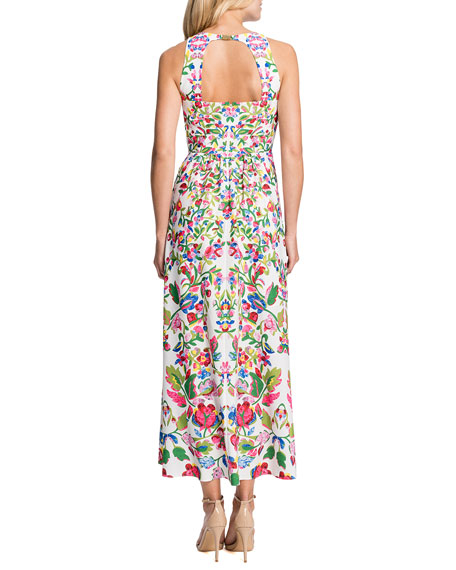 Sidney Sleeveless Printed High-Low Dress