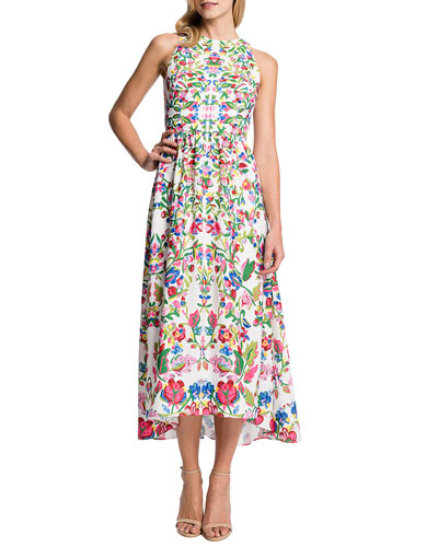 Cynthia Steffe Sidney Sleeveless Printed High-Low Dress