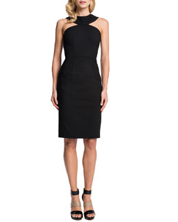 Cynthia Steffe Lucia Cleopatra-Collar Sheath Dress