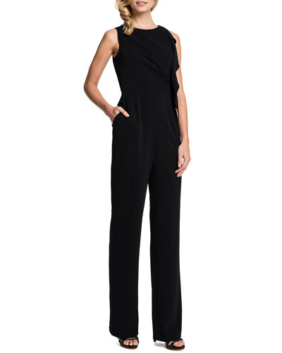 Cynthia Steffe Reed Sleeveless Jumpsuit with Cascade Ruffle