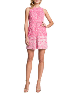 Cynthia Steffe Aniston Printed Inverted-Pleat Dress
