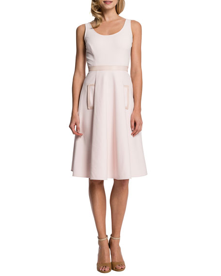 Merrin Sleeveless Pleated-Skirt Dress