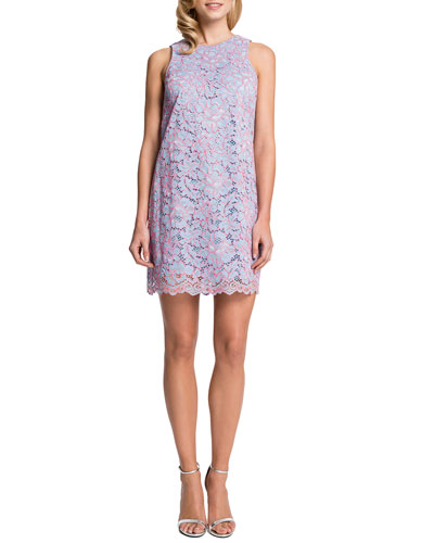 Cynthia Steffe Esther Sleeveless Lace Shift Dress