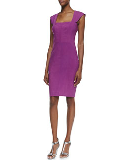 Nicole Miller Square-Neck Cocktail Sheath Dress