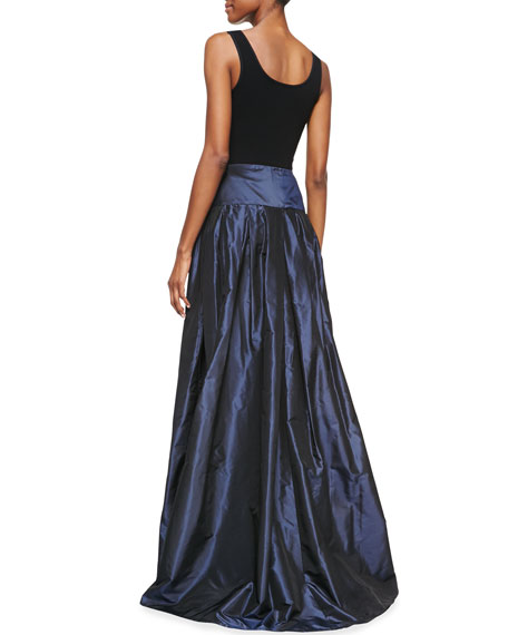 Taffeta Ball Gown Skirt, Deep Navy