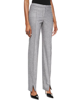 Carolina Herrera Summer Tweed Narrow Pants