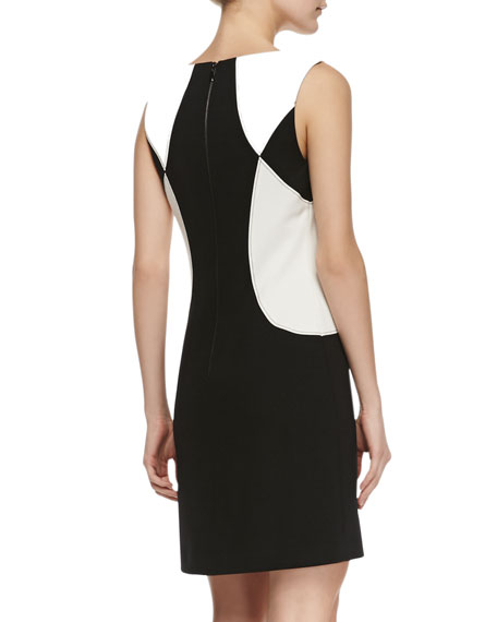 Sleeveless Colorblock Ponte Dress