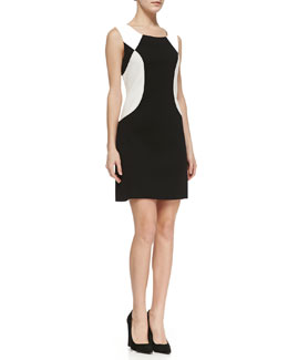Laundry by Shelli Segal Sleeveless Colorblock Ponte Dress