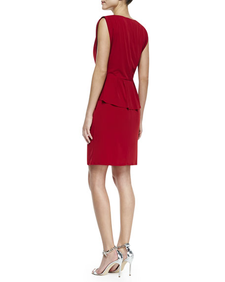 Sleeveless Peplum Jersey Dress