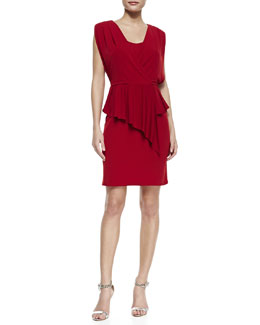 Laundry by Shelli Segal Sleeveless Peplum Jersey Dress