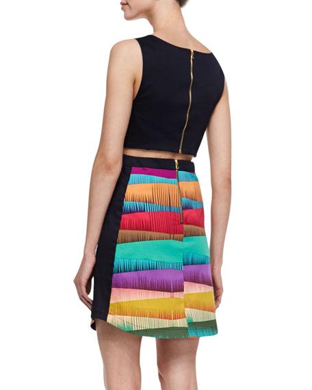 Frieda Sleeveless V-Neck Dress, Multicolor