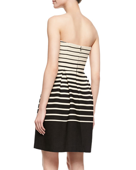 Kenzie Strapless Striped Dress