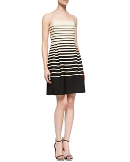 Trina Turk Kenzie Strapless Striped Dress