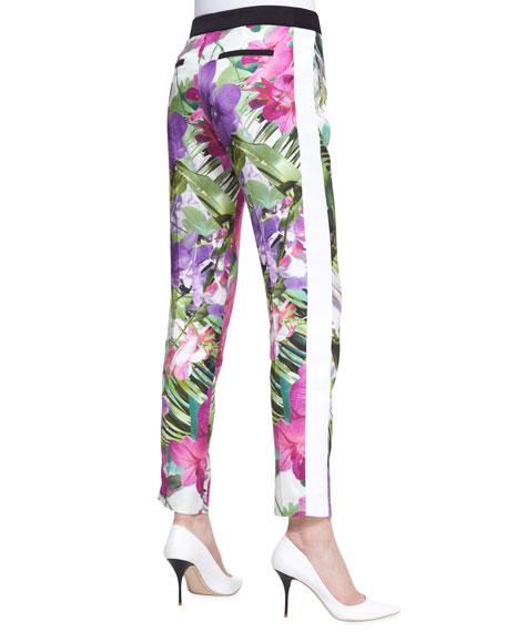 Senia 2 Satin Floral-Print Pants