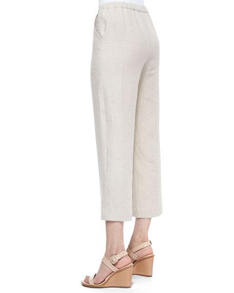 Casual Linen Ankle Pants