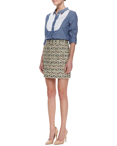 harper summer tweed skirt