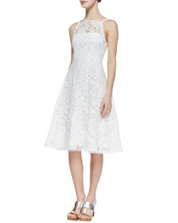 Nanette Lepore Beach Breeze Lace Sleeveless Dress, White