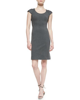 Diane von Furstenberg April Cap-Sleeve Structured Jersey Dress