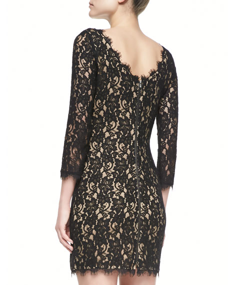 Colleen 3/4-Sleeve Lace Dress
