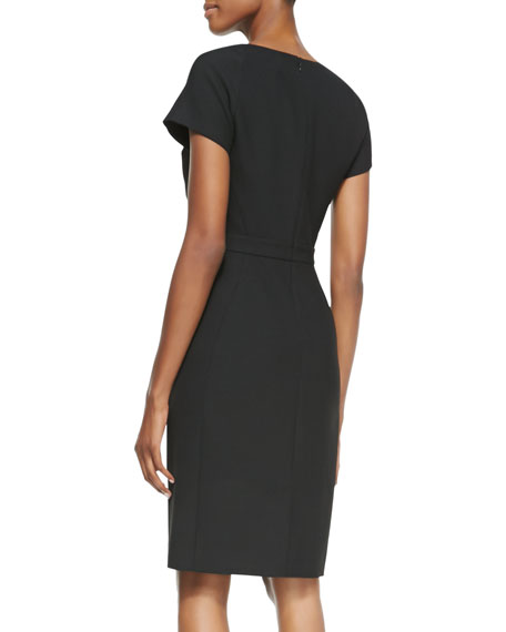 Katrina Cap-Sleeve Sheath Dress