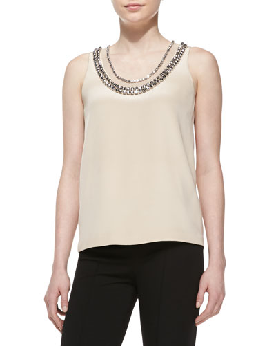 Diane von Furstenberg Ade Sleeveless Jewel-Neck Top