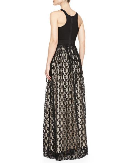 Stella Cheetah Lace Racerback Gown