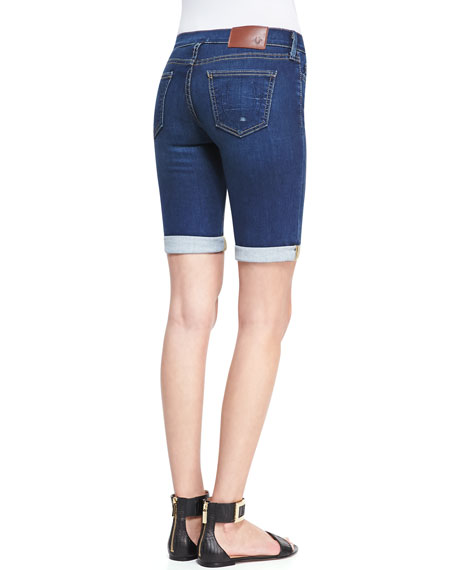 Savanah Ocean Madness Cuffed Denim Shorts
