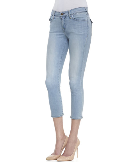 Serena Moment's Notice Cropped Light-Wash Skinny Jeans
