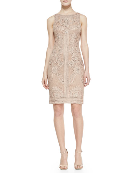 Sleeveless Lace Passementerie Dress