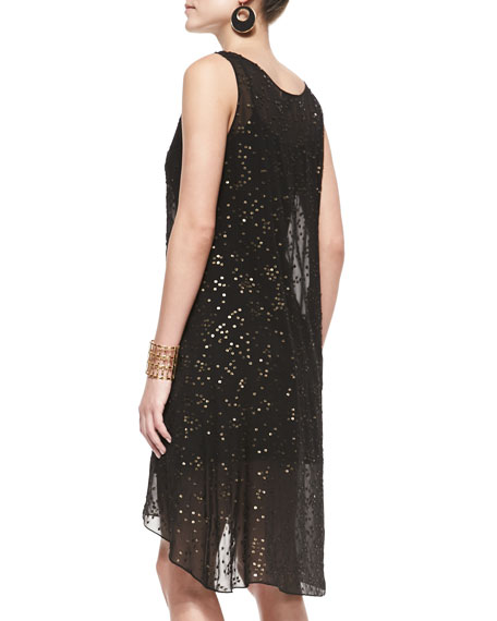 Sleeveless Tarnished Sequins Dress