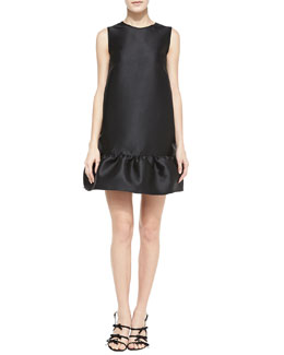 kate spade new york sleeveless flounce-hem drop-waist dress