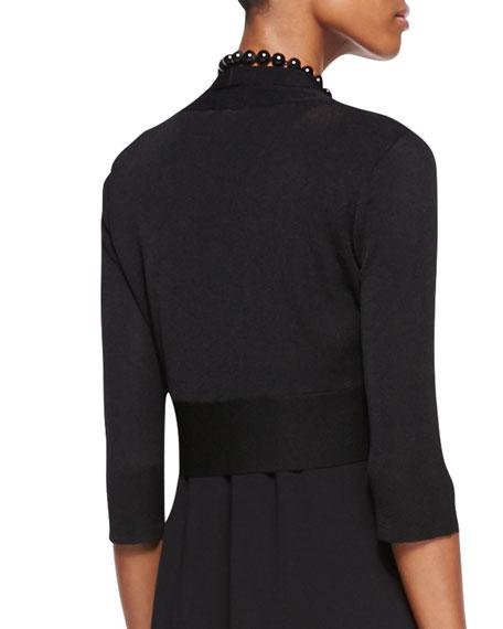 Half-Sleeve Shrug, Women's, Black