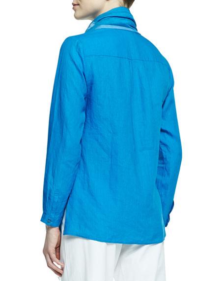 Handkerchief Linen V-Neck Shirt