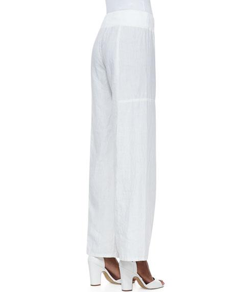 Organic Wide-Leg Linen Pants