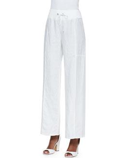Eileen Fisher Organic Wide-Leg Linen Pants